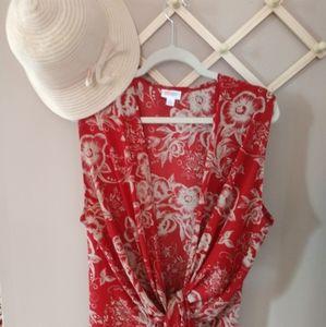 XL LulaRoe Joy Longline Vest